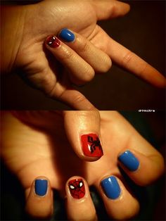 spiderman nails <3 oh yes!