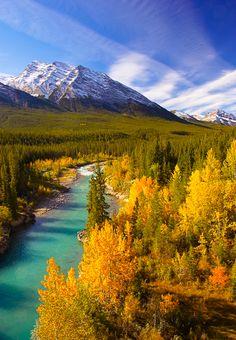 View from David Thompson Highway, Alberta, Canada