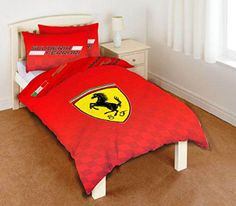 Ferrari #bedding set 135 x 200 cm cotton/ polyester #single duvet #cover set sing,  View more on the LINK: 	http://www.zeppy.io/product/gb/2/222341600138/