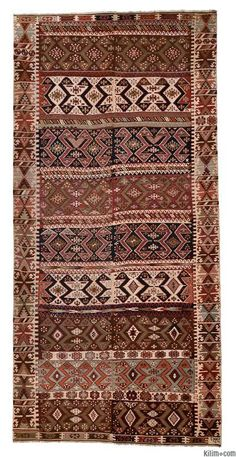 K0005959 Antique Malatya Kilim | Kilim Rugs, Overdyed Vintage Rugs, Hand-made Turkish Rugs, Patchwork Carpets by Kilim.com