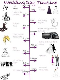 Wedding Day Timeline is done! :  wedding timeline purple silver bridesmaids diy Wedding Day Timeline