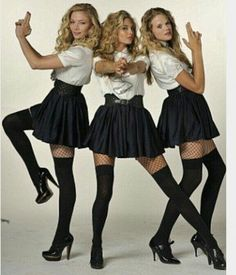 The Posh Totty clique are back in the modern film's sequel, St Trinian's including its' kingpin Tamsin Egerton - who this time has two new sidekicks. S Girls, Girls Wear, Cute Girls, 3 Boys, School Uniform Girls, Girls Uniforms, Nylons, Tamsin Egerton, Fancy Dress