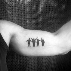 Mens Small Inner Arm Ibeatles Tattoo Design Ideas