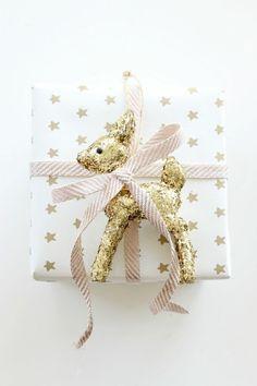 geschenke origenell verpacken weihanchtsbasteln geschenkideen gold