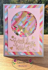 Such a Fun card created by Sheena Joy Neptune using the September 2015 card kit by Simon Says Stamp. I used the Simon Says Stamp September 2015 Card Kit to make this shaker card - I also used the SSS Stitched Rectangle Dies for the front panel. Bday Cards, Kids Birthday Cards, Handmade Birthday Cards, 13 Birthday, Card Birthday, Karten Diy, Shaker Cards, Card Kit, Cool Cards