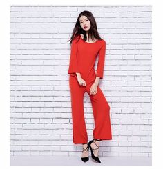 2016 womens winter Women's Sets Cashmere sweaters and Wide Leg pants women High Quality Warm Female Oneck Ankle-Length