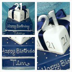 Male 21st Cake