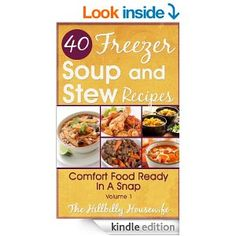 Freezer Soups and Stews - Kindle Cookbook