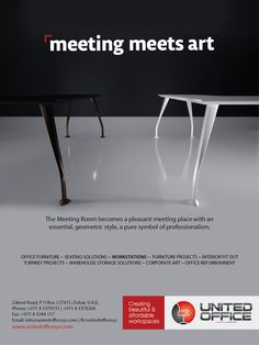 Meeting Meets Art. Unfold the art of furniture at our showroom at Zabeel Road, Dubai or visit us at http://www.unitedofficesys.com
