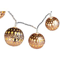 Copper Filigree String Lights Set of 2 String Lights ($25) ❤ liked on Polyvore featuring home, outdoors, outdoor lighting, furniture, lighting, copper, outdoor battery lights, battery operated party lights, copper string lights and copper exterior lighting