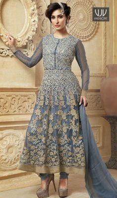 Buy Now @ http://goo.gl/lxxOIe Imperial Net Grey Resham Work Anarkali Salwar Suit The simplicity and grace with this grey net anarkali suit.amazing embroidered and resham work. Comes with matching bottom and dupatta. Product No VJV-BELA2167 @ www.vjvfashions.com #dress #dresses #bollywoodfashion #celebrity #fashions #fashion #indianwedding #wedding #salwarsuit #salwarkameez #indian #ethnics #clothes #clothing #india #bride #beautiful #shopping #onlineshop #trends #cultures #bollywood