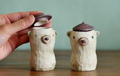 Startled Bear Jar by Grass Boat Ceramics