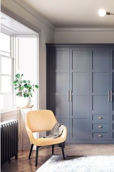 NEW Elise fitted bedroom in Classic Blue. Bedroom decor inspired by Pantone's colour of the year 2020 - Classic Blue. Fitted Wardrobe Doors, Bedroom Built In Wardrobe, Fitted Bedroom Furniture, Fitted Bedrooms, Wardrobe Furniture, Bedroom Closet Design, Home Bedroom, Blue Bedrooms, Fitted Bedroom Wardrobes