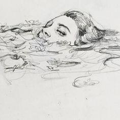 art inspo connie-lim: Ein kleines Gekritzel f - art Pencil Art Drawings, Cool Art Drawings, Art Drawings Sketches, Drawing Faces, Sketch Art, Sketch Ideas, Eye Sketch, Drawing Designs, Dark Drawings