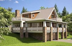 Plan 18251BE: Adorable Cottage With Wraparound Porch