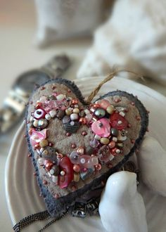 Shop Etsy, the place to express your creativity through the buying and selling of handmade and vintage goods. Valentine Decorations, Valentine Crafts, Valentines Hearts, Felt Ornaments, Christmas Tree Ornaments, Fabric Hearts, Wool Applique, Applique Cushions, Heart Crafts