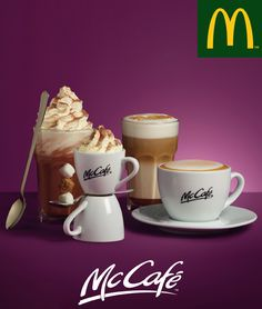 Food Branding, Coffee Branding, Ad Design, Graphic Design, Mcdonalds, Drinks, Tableware, Craft Ideas, Icons