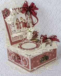 Christmas gift box in red