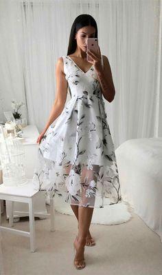 summer dresses,high low homecoming dress,floral dresses,unique homecoming dresses