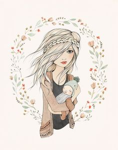 Mother's Love Art Print  by Kelli Murray
