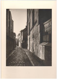 Eugène Atget - Rue St. Rustique, March 1922, printed 1956 by Berenice Abbott, gelatin silver print Eugene Atget, Berenice Abbott, Gelatin Silver Print, Physics, March, Printed, Photography, Painting, Photograph