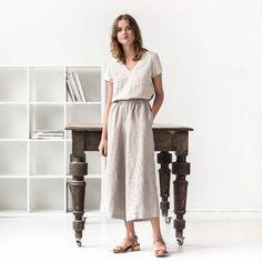 d518627211 Linen wide leg LYON MAXI pants   Linen culottes   MAXI skirt - pants  available in
