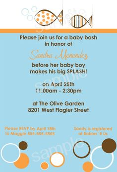 Modern Fish Baby Shower   DIY PRINTABLE Party by modpoddesigns, $12.00