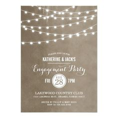Discount Deals Summer String Lights Engagement Party Invitation We provide you all shopping site and all informations in our go to store link. You will see low prices on