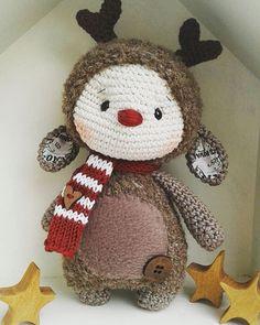 Pünktlich zum 1. DEZEMBER. ..für meine zauberhafte verrückte @crazy_inked_pierced Luis the little reindeer.. eine wunderschöne Weihnachtszeit euch allen #reindeer #rentiere #christmasgifts #christmastime #crochet #crochetlovers #häkeln #marleensmadeforyou #weihnachtszeit #cuddlytoy #dollmaker #crochetdolls #diy #crochetersofinstagram #amigurumi