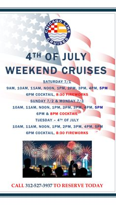 Happy to all! Cruises, July 4th, Fireworks, Schedule, Chicago, History, Architecture, Happy, Timeline