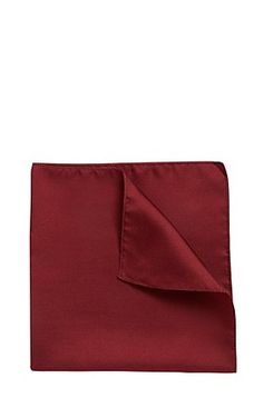 Pañuelo de bolsillo 'Pocket sq. cm 33 x 33' en seda, Rojo oscuro - Hugo Boss