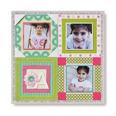 Paper Ribbon Frame Scrapbook Layout Page Idea from Creative Memories  #scrapbooking    http://www.creativememories.com