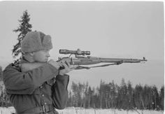 Young Finnish sniper in the Winter War