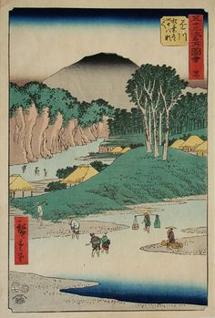 【浮世絵 風景 Ukiyoe-Landscapes】広重 Hiroshige 『五十三次名所図会 掛川』/浮世絵・掛軸・書画・骨董・古美術品の販売・鑑定・買取/森宮古美術*古美術もりみや