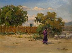 "Felice Hrovat ""New Mexico Homstead"" 9x12 Oil on Canvas"