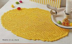 Easter Crochet, You Are My Sunshine, Filet Crochet, Christmas Tree, Kids Rugs, Yellow, Holiday Decor, Home Decor, Placemat
