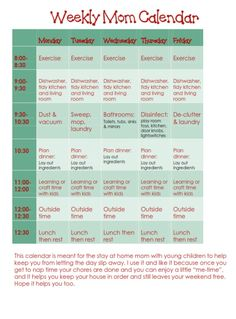 This one is great. Id shift the times around a bit. But its a generally really simple schedule.