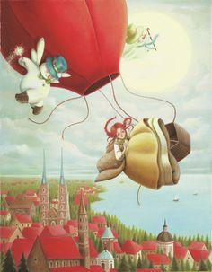 Hot Balloon Snowman Girl | Publishing | Drawn to better | Astound.us