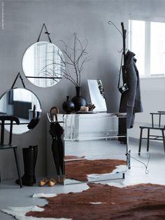 Speglar gör rummet större