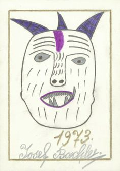 """1914 - 1979    Josef Bachler tackled his drawings very decidedly, using few lines to cut through the white sheet. Singular distinctive dashes sketched a woman, a man or an animal - clearly and uncompromisingly. The viewer saw a """"completed"""" work: no doubt as to whether anything might be missing in the cat, the elephant or the human."""