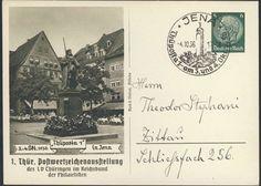 Germany, German Empire, Deutsches Reich 1936, 6 Pfg.-GA-Postkarte, von der Thüposta in Jena, mit Sonderstempel, gelaufen (Mi.-Nr.PP127C22). Price Estimate (8/2016): 10 EUR. Unsold.