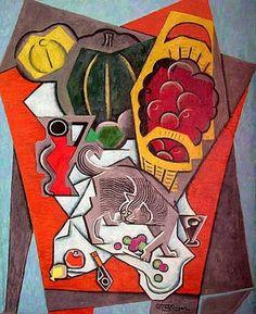 Nature Morte Au Chat Gris | Jean Metzinger. Cubism, Puteaux Group, Neo-Impressionism, Fauvism, Divisionism