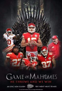Game of Mahomes. Kc Football, Nfl Football Players, Football Season, Chiefs Memes, Nfl Memes, Kc Cheifs, Kansas City Chiefs Football, Nfl Chiefs, Pittsburgh Steelers