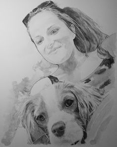 Acoustic Drawings The Shinji Ogata Gallery: A Lady with Her Lovely Doggie…