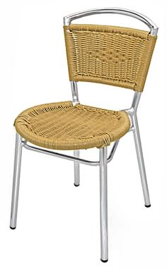 Key West Collection Side Chair, W-20 by Florida Seating by Florida Seating | BizChair.com in a bordeaux wicker color too-$68.99 stackable