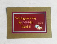 A Diwali greeting card that CONTAINS a gift!   #Happy #diwali #greeting #card #contains #gift