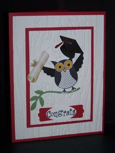 Graduating owl by angelsparkly - Cards and Paper Crafts at Splitcoaststampers