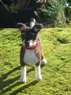 Custom Pet Portrait / Needle Felted Dog / by GourmetFelted on Etsy