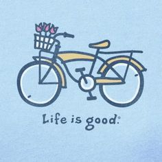 """Singing,""""I rode my bicycle passed your window today"""". Yes, life is good."""