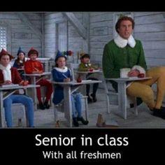Senior elf vs freshmen elveselves